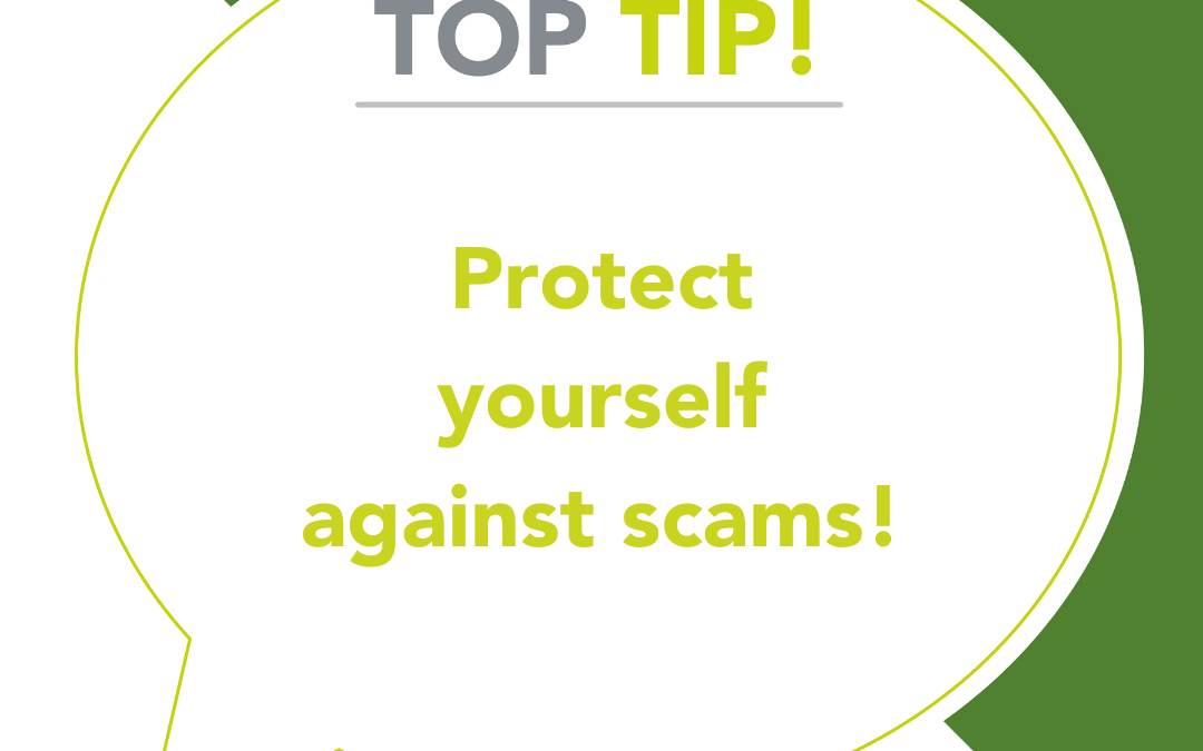 A word about scams